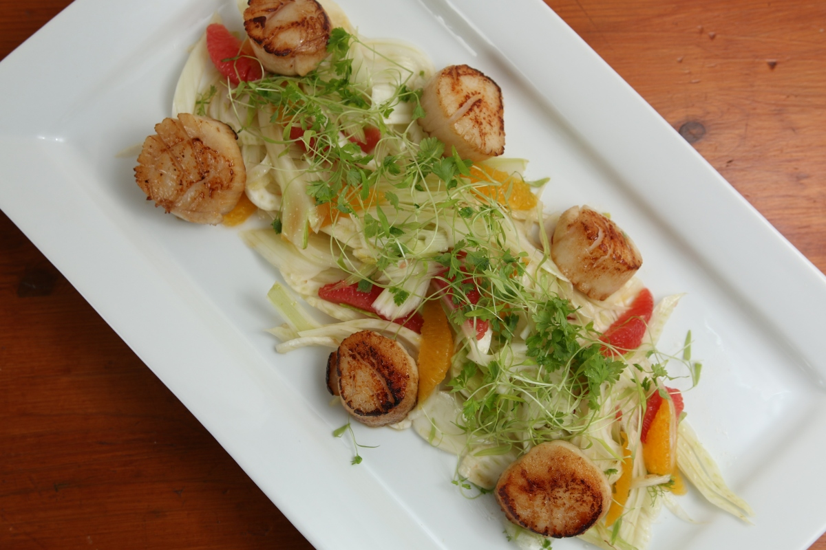 Pan Seared Scallops with Fennel and Citrus Salad